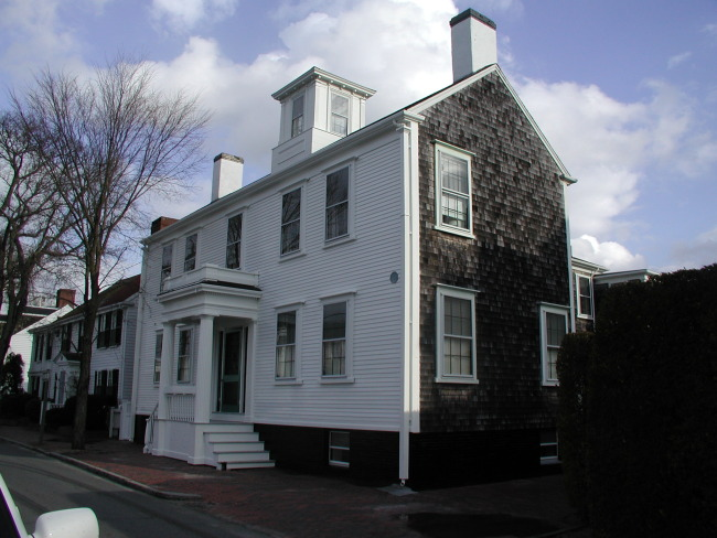New England Architecture Typical House In Town Nantucket