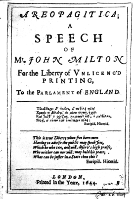 """miltons notion of virtue in areopagitica Dive deep into john milton's areopagitica with """"i cannot praise a fugitive and cloistered virtue,"""" milton his teaching advanced the notion that free."""