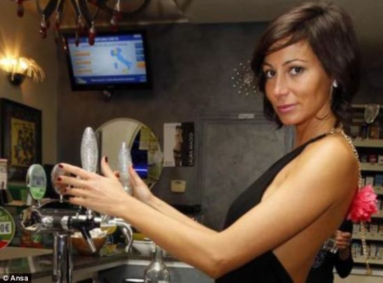 Photo Above From Sexpresso Wives Ban Their Husbands From Visiting Italian Cafe Where Busty Barmaid Serves Up Drinks In Skimpy Outfits H T Insty